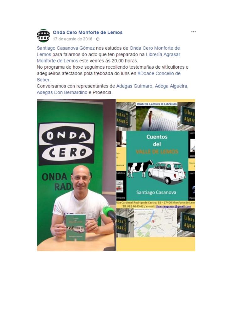 Entrevista en Onda Cero